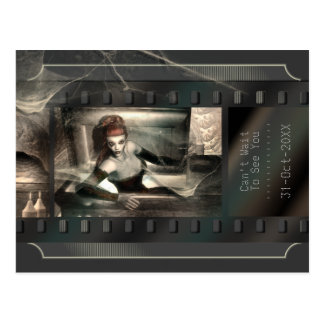Gothic Vampire Vintage Horror Movie Postcard