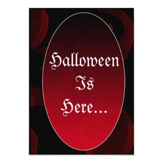 Gothic vampy Halloween invite