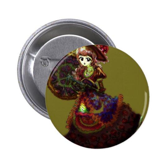 Gothic Victorian Anime Vampire Medieval Vintage Button