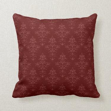 Gothic Victorian Damask Throw Pillows