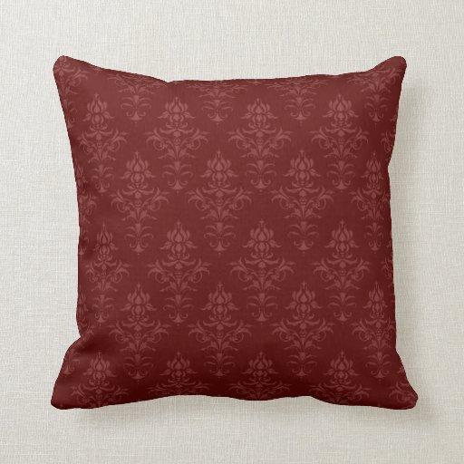 Victorian Throw Pillows : Gothic Victorian Damask Throw Pillows Zazzle