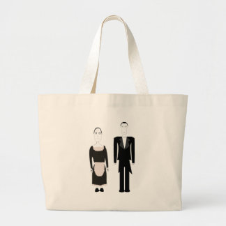 Gothic Victorian Maid and Butler Jumbo Tote Bag