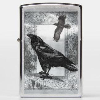 Gothic Victorian Raven Fantasy Art Zippo Lighter