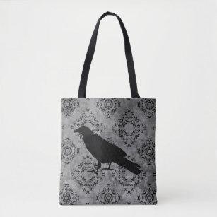 6b9aa703cfe6 Gothic victorian raven tote bag