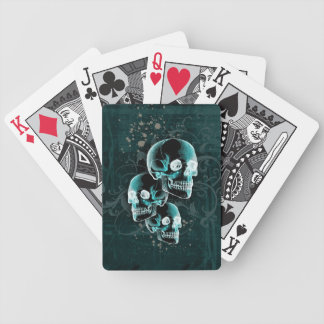 Gothic Victorian Skulls Design Bicycle Playing Cards