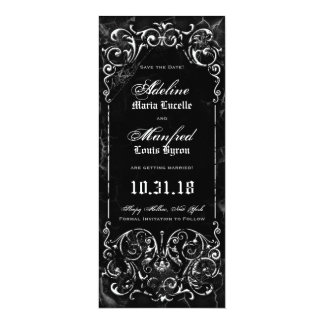 Gothic Victorian Spooky Black Save the Date Card