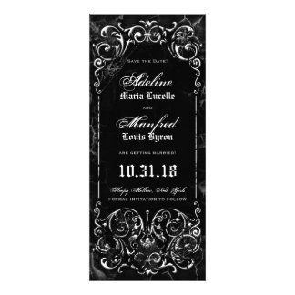 Gothic Victorian Spooky Black Save the Date Personalized Invite