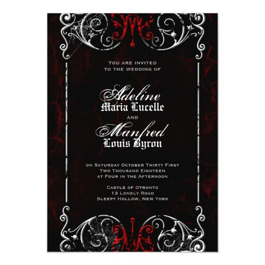 Gothic Victorian Spooky Red, Black & White Wedding ...
