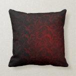 Gothic Victorian Vampire Pattern Throw Pillow