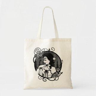 Gothic Victorian Vampire Portrait Tote Bag