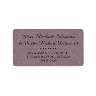 Gothic Victorian Wedding Address Labels