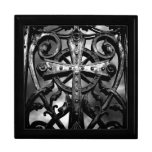 Gothic victorian wrought iron celtic cross gift box
