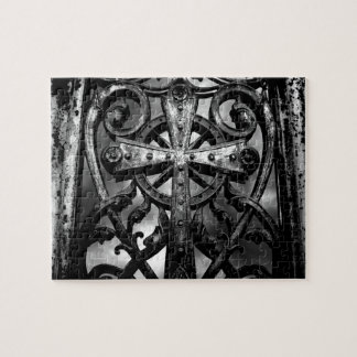 Gothic victorian wrought iron celtic cross puzzles