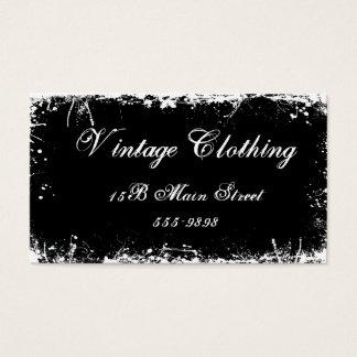 Gothic Vintage Black Business Card