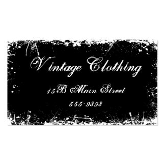 Gothic Vintage Black Double-Sided Standard Business Cards (Pack Of 100)