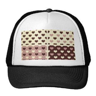 gothic vintage heart polka dot pattern retro girly mesh hat