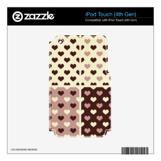 gothic vintage heart polka dot pattern retro girly decals for iPod touch 4G