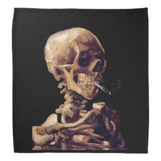 Gothic vintage Smoking skeleton by Van Gogh Bandana