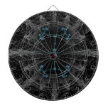 Gothic  Web Abstract Dartboard
