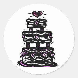 Gothic Wedding Bells Classic Round Sticker