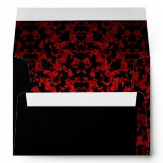 Gothic wedding dark red envelope