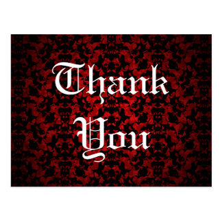 Gothic wedding elegant Thank You postcard