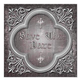 Gothic Wedding Save the Date Invitation