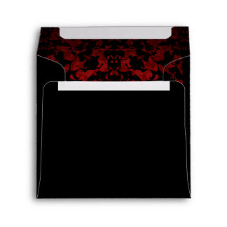 Gothic wedding square envelope