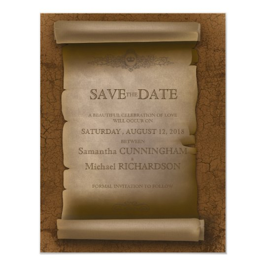 Gothic  Wedding Vintage Old Rust Paper Card