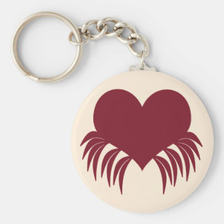 Gothic weeping heart key chains