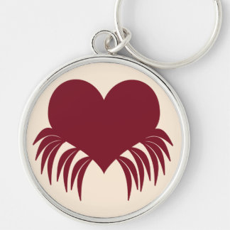 Gothic weeping heart keychain