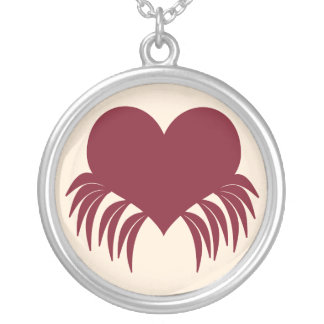 Gothic weeping heart necklaces