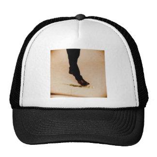 Gothic White Flower Trucker Hat