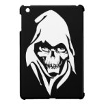 Gothic White Reaper face on black background Cover For The iPad Mini