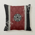 Gothic Wiccan Pentacle Throw Pillow