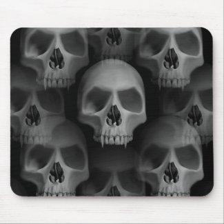 Gothic wicked vampire skulls mousepad