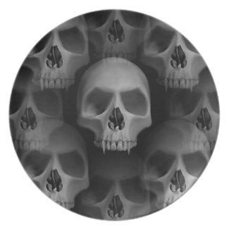 Gothic wicked vampire skulls plate
