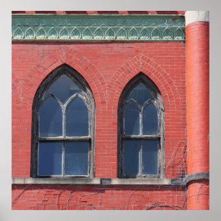 Gothic Windows Poster