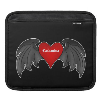 Gothic winged heart Valentines Day iPad Sleeves
