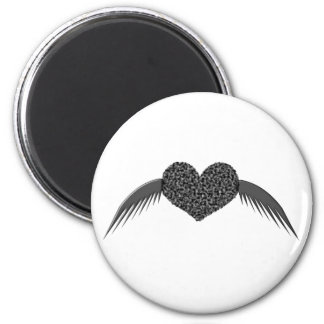 Gothic Winged Love Heart Magnet