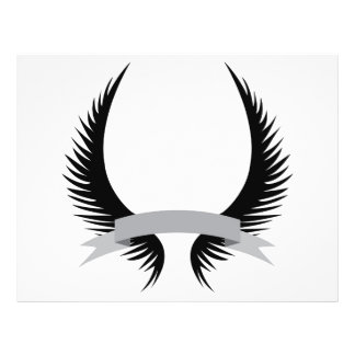 Gothic Wings Crest Design Flyer