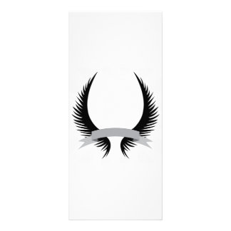 Gothic Wings Crest Design Rack Card