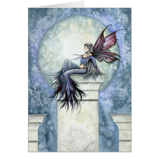 Gothic Winter Fairy Card ~ Blank