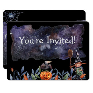 "Gothic Witchy Party 5"" x 7"" Invitations"