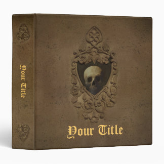 Gothic with Skull 3 Ring Binder