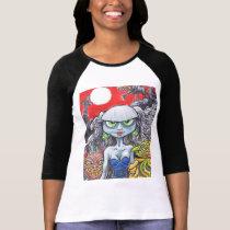 Gothic woman on a woman's shirt. T-Shirt