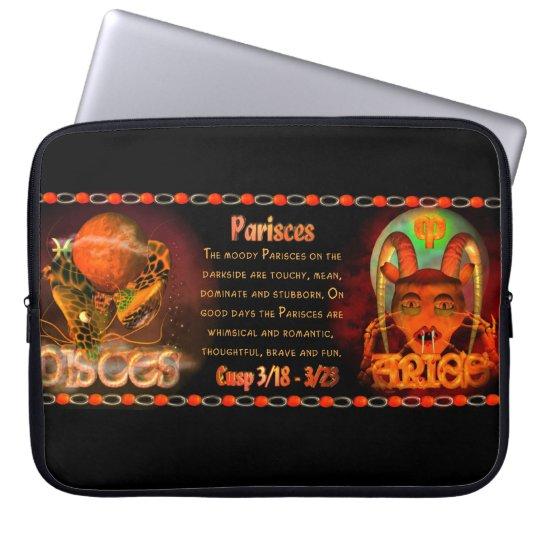 Gothic zodiac Pisces Aries cusp Laptop Sleeve
