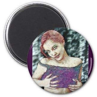 Gothic Zombie Vampire Original E.L.D. ART 2 Inch Round Magnet
