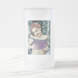 Gothic Zombie Vampire Original E.L.D. ART Frosted Glass Beer Mug