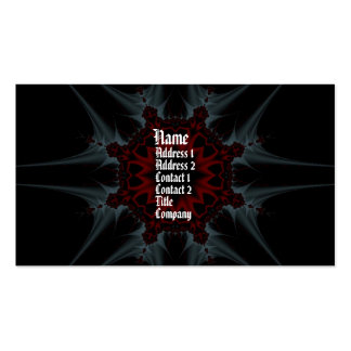 Gothica fractal fantasy Profile Card Business Card